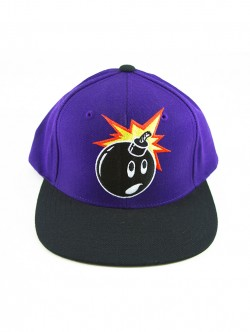 Boné The Hundreds Snapback Adam Bomb Purple